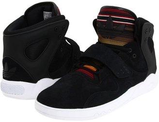 adidas Roundhouse Mid - Suede (Black/Black/White) - Footwear
