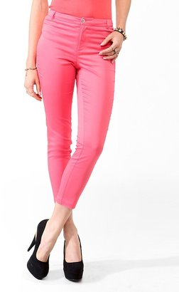 Forever 21 Solid Capri Trousers