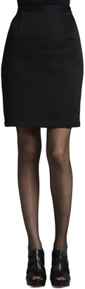 Nanette Lepore Silhouette Puckered Pencil Skirt