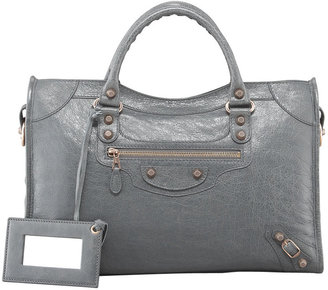 Balenciaga Giant 12 Rose Golden City Bag, Gris Tarmac