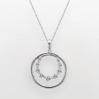 10k White Gold 1/2-Ct. T.w. Diamond Circle Pendant