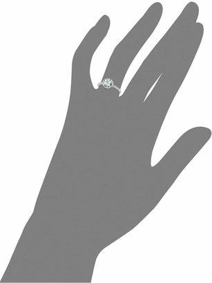 14k White Gold Ring, Aquamarine (1 ct. t.w.) and Diamond (1/8 ct. t.w.) Ring