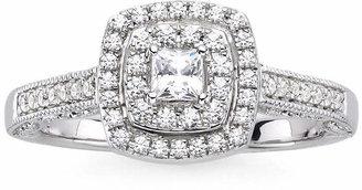 MODERN BRIDE I Said Yes 3/8 CT. T.W. Diamond & Lab-Created Blue Sapphire Vintage-Style Ring