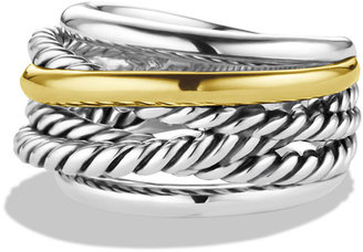 David Yurman Crossover Narrow Ring with Silver/Gold