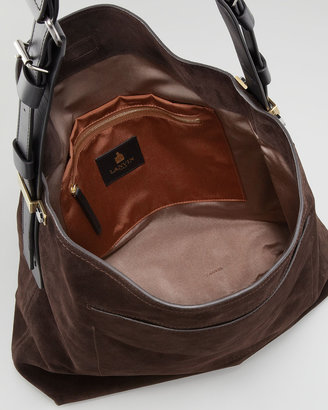 Lanvin Swag Nubuck Messenger Bag, Dark Brown