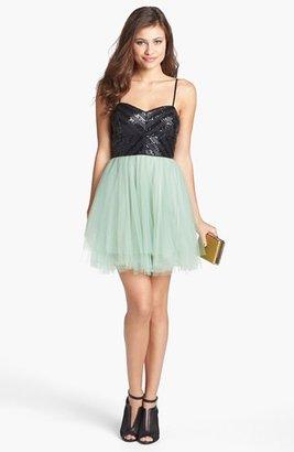 Trixxi Sequin & Tulle Ballerina Dress (Juniors)