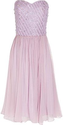 Rachel Gilbert Lucinda strapless silk-chiffon dress