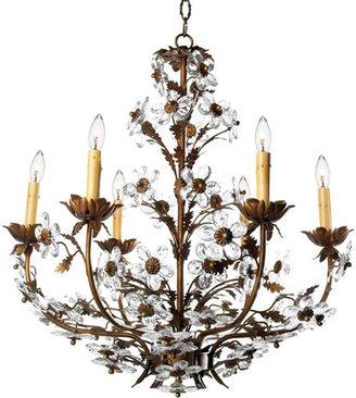 Amaryllis Crystal Chandelier in Custom Colors