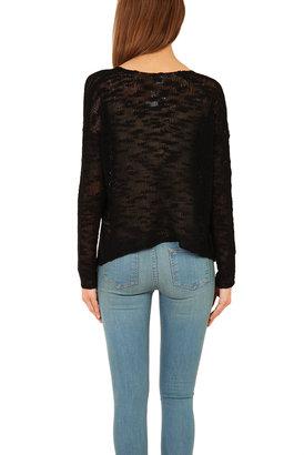 Helmut Lang Silk V Neck Pullover