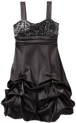 Ruby Rox Girls 7-16 Sequin Top Pick up Party Dress