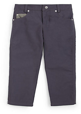 Andy & Evan Infant's Faded Denim Twill Pants