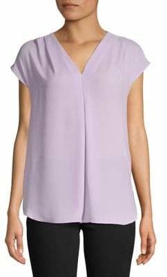 INC International Concepts Inverted Pleat V-Neck Top