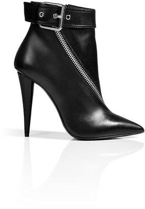 Giuseppe Zanotti Leather Twist Zip Ankle Boots in Black