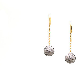 Tresor Collection - Diamond Lente Dangle Earrings In 18K Wg