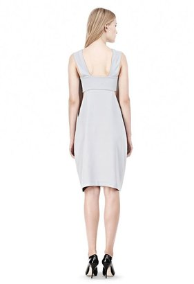Alexander Wang Poly Crepe Low V-Neck Dress With Bandeau Insert