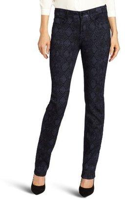 NYDJ Women's Sheri Skinny Metallic Snake Jean