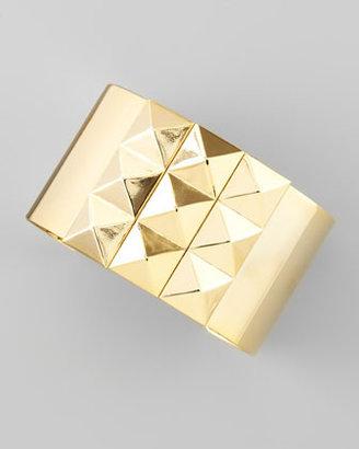 A.V. Max Pyramid Stud-Trim Wide Cuff