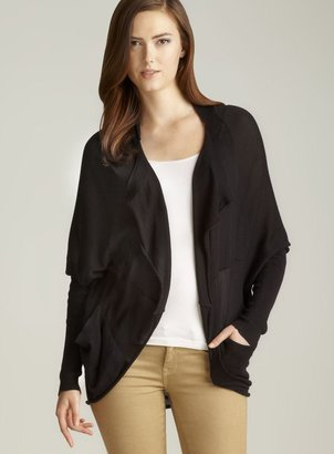 Press Draped Front Pocketed Shrug