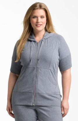 Zella 'Supersoft' Short Sleeve Hoodie (Plus)