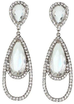 Kenneth Jay Lane Red Carpet Fab Earrings (Bling) - Jewelry