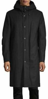 DKNY Classic Hooded Coat