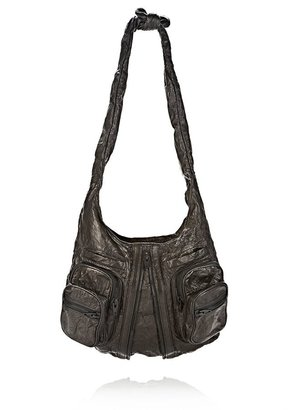 Alexander Wang Donna In Black Memory Leather With Matte Black