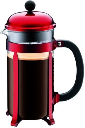 Bodum Chambord 8 Cup Coffee Maker, Red