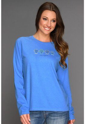 Life is Good Four Seasons Tree Crusher L/S Tee (Spring Blue) - Apparel