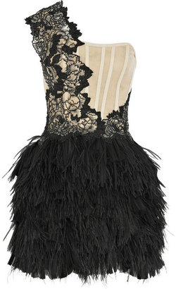 Marchesa Embellished corset dress