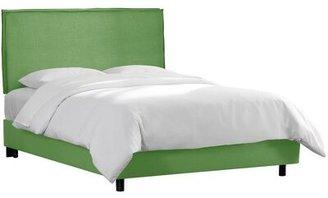 Wayfair Custom UpholsteryTM Courtney Upholstered Standard Bed Wayfair Custom Upholstery Size: King, Body Fabric: Linen Kelly Green