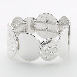 Dana Buchman silver tone hammered stretch bracelet