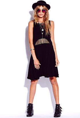 Forever 21 Caged Georgette Dress