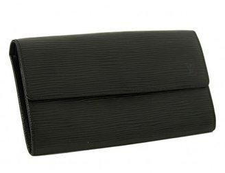 Louis Vuitton excellent (EX Black Epi Leather Sarah Pochette Wallet