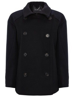 Derek Lam Navy Wool Pea Coat