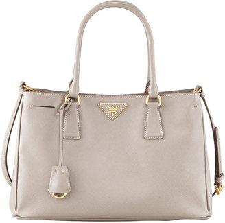 Prada Saffiano Lux Tote Bag, Small, Grey (Argilla)