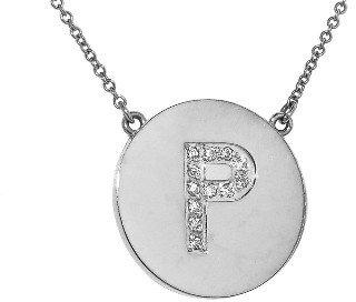 Jennifer Meyer Diamond Letter Necklace - P - White Gold