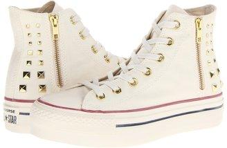 Converse Chuck Taylor All Star Platform Zip Hi (Egret) - Footwear