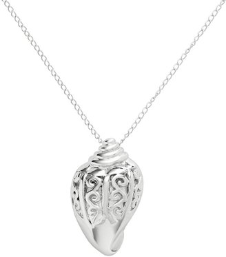 Jewelry For Trees Jewelry for Trees Platinum Over Silver Shell Pendant