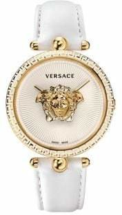 Versace Palazzo Empire Stainless Steel Leather-Strap Watch