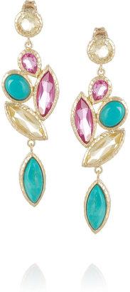 Isharya Nile Nymph 18-karat gold-plated crystal earrings