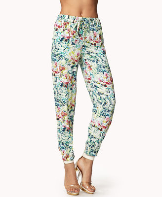 Forever 21 Tropical Floral Joggers
