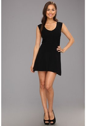 French Connection Downtown Dani Cap Sleeve Dress (Black) - Apparel