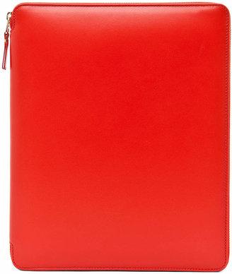 Comme des Garcons Luxury Leather iPad Case in Orange | FWRD