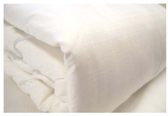 Natural Comfort Ultra DLX 100% Natural Mulberry Silk Fill Dobby White Comforter (All Seasons), Twin