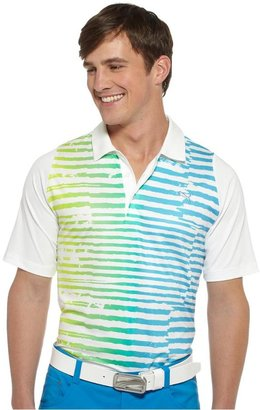 Puma Duo-Swing Striped Golf Polo Shirt