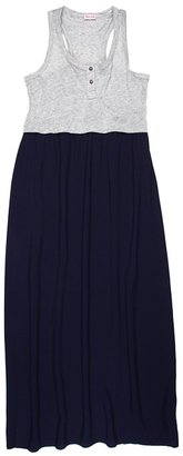 Splendid Littles Colorblock Maxi Dress (Big Kids) (Navy) - Apparel