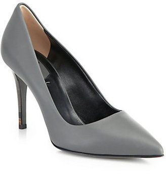 Fendi Anne Leather Point-Toe Pumps