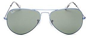 Ray-Ban Unisex Original Brow Bar Aviator Sunglasses, 58mm