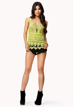 Forever 21 Crocheted Tank