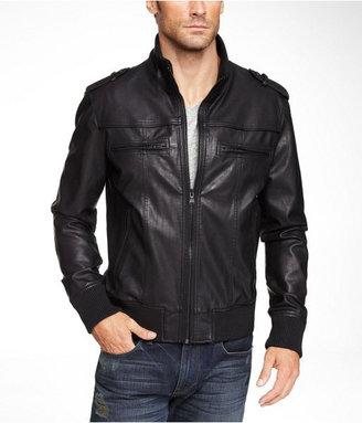 Express (Minus The) Leather Knit Trim Bomber Jacket